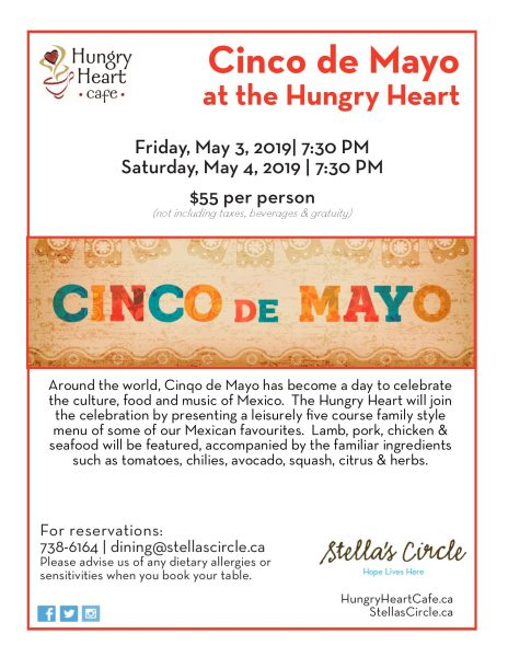Cinco de Mayo Theme Nights at the Hungry Heart
